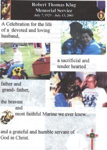 Dad's Memorial Service