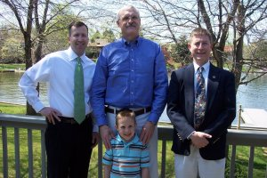 From left: Mark Ford, Jack Kelly, Greg Leitz;  Front: Parker Ford